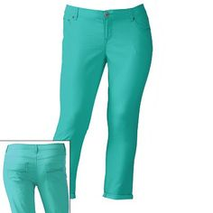 SO Color Cuffed Crop Pants - Juniors Plus