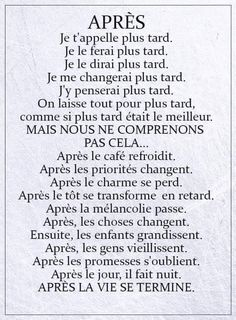 Stel nooit uit - Apocalypse Now And Then French Phrases, French Words, French Quotes, French Language Lessons, French Lessons, How To Speak French, Learn French, French Expressions, Teaching French