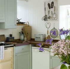 北欧キッチン素敵飾り付け