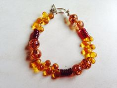 Amber Beaded Bracelet  by bumbalilliesbling on Etsy, $16.00