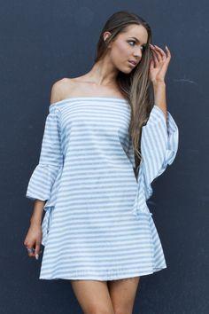 Miss Runway Fashion - Free Love Dress - Stripe