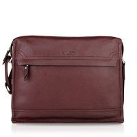 Buy Luxury Men Business Leather Messenger Bag Online Sale In Brwon