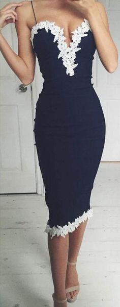 Black Sheath Homecoming Dresses Spaghettis Straps Tea Length Party Dresses