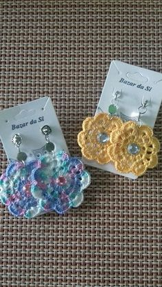 Purchase Graceful Drop Earrings for Women & Girls at Affordable Prices. off All Earrings at Checkout Page. Get Today Now. Crochet Necklace Pattern, Crochet Jewelry Patterns, Crochet Hair Accessories, Crochet Flower Patterns, Crochet Bracelet, Crochet Motif, Crochet Flowers, Knit Crochet, Crochet Crafts