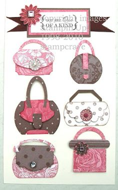 Punch art purses for card