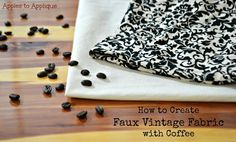 Crafty Allie: How to Create Faux Vintage Fabric
