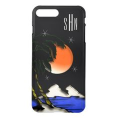 #initial - #Island Night Design iPhone 8 Plus/7 Plus Case