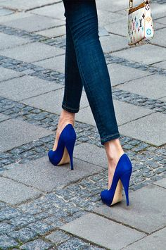 Blue suede heels. I want.