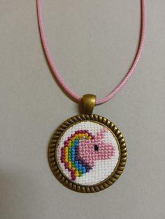 Washer Necklace, Pendant Necklace, Unicorn, Crochet, Jewelry, Crochet Hooks, Jewlery, Jewels, Crocheting