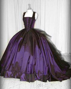 Purple masquerade gown