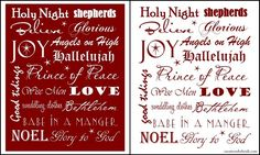 Free Christian Christmas printable word art.  Beautiful!