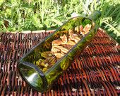 Recycled Wine Bottle Serving Tray GREEN