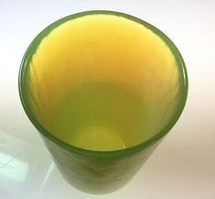 "4"" Tall Green Opalescent Yalos Casa Murano Glass Tumbler Excellent Condition | eBay"