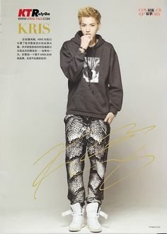 Kris.. I totally want his signature. I want this pic in general