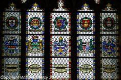 Stained glass window from Exeter Cathedral