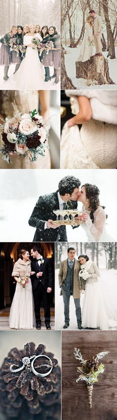 Beautiful snowy winter wedding inspirations for your dream wedding day