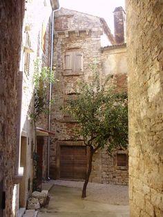 Bale yard, small town in Istria, Croatia