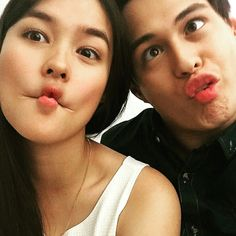 Liza Soberano Page Liked · Yesterday · Quen trying to do the fishy face but he still looks like a monkey Enrique Gil, Cute Faces, Funny Faces, Liza Soberano Wallpaper, Lisa Soberano, Half Filipino, Filipina Actress, Daniel Padilla, Jadine