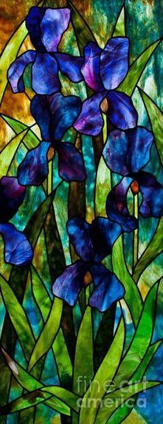 Iris Glass Art.......