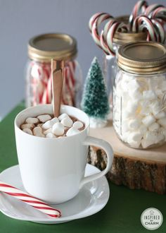 Homemade Hot Cocoa recipe (milk chocolate, white chocolate, spiced chocolate) PLUS tips for setting up a Hot Cocoa bar.