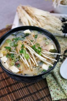 Miso Soup by thehealthyfoodie: Quick, easy and healthy. #Soup #MIso #Easy #Healthy