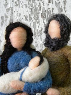 Needle+felted+Nativity++Blue+and+Camel+by+TheMermaidsMuse+on+Etsy,+$80.00