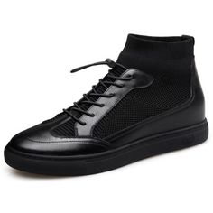 c6a22a5b Trendy Hidden Lift Flyknit Running Shoes High Top Elevator Board Shoes  Increase 2.2inch / 5.5cm