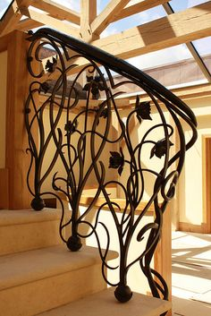 Bex Simon Art Nouveau banister rail by Bex Simon, via Flickr