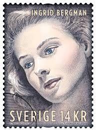 Sweden Stamp - Ingrid Bergman