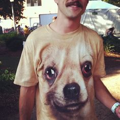 """""""I was at a bachelor party, and we all bought dog shirts."""" #festever #pitchforkfestival #urbanoutfitters"""