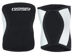 Contraband Black Label 1800 7mm Neoprene Knee Sleeves PAIR BlackWhite XLarge ** Read more reviews of the product by visiting the link on the image.