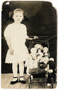 Ola with her Dolls c. 1920