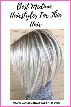Are you looking to add volume to your thin hair?? Why not try these amazing medium length hairstyles that will give your thin hair some volume! #mediumhairstyles #thinhairhairstyles #thinhair #volumehair #fullerhair #thickerhair