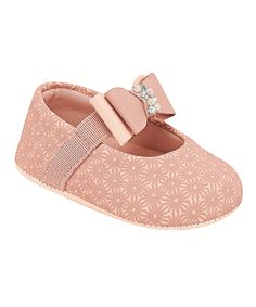 Pink Beaded-Bow Mary Jane