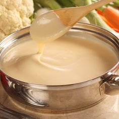 Guiltless Gourmet Chenion Sauce: Can be used over broccoli, Pasta, corn tortilla with shredded chicken for an amazing taco. used as a vegetable dip, salad dressing or as a spread for sandwiches & Wraps, etc. Salsa Bechamel, Bechamel Sauce, Dip Recipes, Sauce Recipes, Cooking Recipes, Party Recipes, What's Cooking, Recipes Dinner, Yummy Recipes