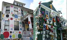 Artist Tyree Guyton started the Heidelberg Project in 1986 with help from his grandfather when he became fed up with the decay, the dangers and the drug dealers. Abandoned homes were festooned with whatever whimsical objects Guyton could find.