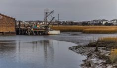 Stuck In The Mud by Capt. Gerry Hare on Capture Jersey // Along the  Ocean Drive, an island-hopping route from Cape May to Strathmere, was created by the Cape May County Bridge Commission starting in 1934 as part of President Franklin D. Roosevelt's New Deal.