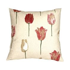 Pillow Decor Albany Tulips 22x22 Throw Pillow (65 CAD) ❤ liked on Polyvore featuring home, home decor, throw pillows, pillows, floral home decor, flower throw pillow, flower stem, flower home decor and pink throw pillows