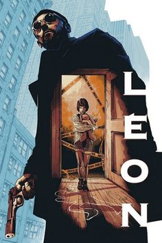 Leon (The Professional) movie poster by Barrett Chapman Horror Movie Posters, Cinema Posters, Classic Movie Posters, Horror Movies, Best Movie Posters, Old Film Posters, Classic Films, Posters Vintage, Retro Poster