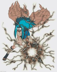 Curse mark Sasuke with black chidori