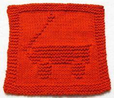 Knitting Cloth Pattern   RED WAGON  PDF por ezcareknits en Etsy
