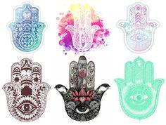 Yoga Tattoos, Body Art Tattoos, Sleeve Tattoos, Nice Tattoos, Hamsa Meaning, Hamsa Tattoo Design, Hamsa Art, Small Flower Tattoos, Mandala Tattoo