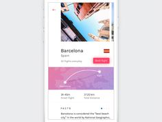 Photo Gallery for Flight Booking app project by Vitaly Rubtsov #Design Popular #Dribbble #shots
