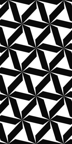 Seamless black and white hexagonal abstract geometric pattern design
