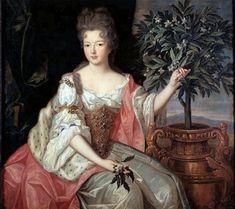 Françoise Marie de Bourbon Duchesse d'Orleans daughter of Louis XIV and Madame de Montespan by Pierre Gobert