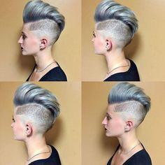 coupe mohawk femme couleur mirobolante #hair #hairstyles