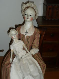 "queen anne dolls | ... Patterson: ....14"" wooden baby Emily~~Queen Anne style doll.....SOLD"