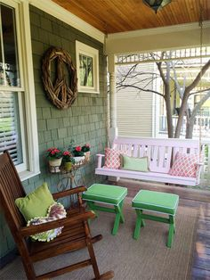 Pine Wood English Porch Swing