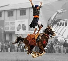Horse Riding is considered a great skill when coupled with Sikh Martial Arts Every Sikh should learn horseriding but nowadays a very few can do it. Indian Martial Arts, Punjabi Culture, Avatar World, World Religions, Incredible India, Horse Riding, Beautiful Horses, Indian Art, We The People