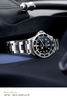 Developed in 1967, waterproof to a depth of 610 metres (2,000 feet) initially and then to 1,220 metres (4,000 feet) in 1978, the Sea-Dweller is the watch for the pioneers of the deep. #Sea-dweller #Exploration #RolexOfficial